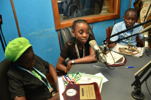13 years old Oyindamola Bowale(Middle), National Winner of the Pi Competition