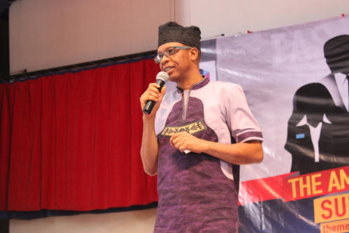 Award-winning Actor and Telcoms Giant,MTN, Ambassador, Hafiz Oyetoro speaking at the Summit 2.0