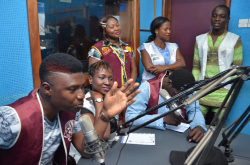 Executive Officers of the LEO CLUB, Lagos on the show