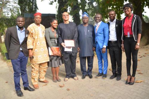 From Left Ademulegun Olowojoba, Dr Adebayo, EhmDee, Prof Pat Utomi, Prof Babawale(DSA, Unilag), PeeJay, Kunle and Earniewhine