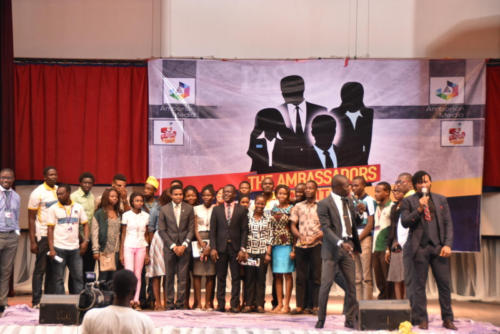Lucky Winners of the FCMB Scholarship at the Ambassadors Summit 2015