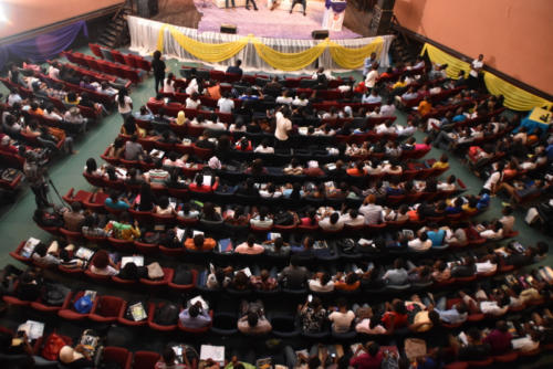 Overhead View of participants at the Ambassadors Summit in Lagos