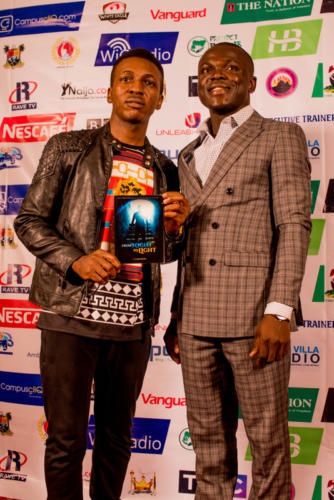Popular Artiste Frank Edwards with Convener at Summit 3.0 RedCarpet