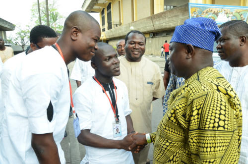 Prince Joshua(PeeJay) officially meets His Excellency, Mr Akinwunmi Ambode, the Governor of Lagos