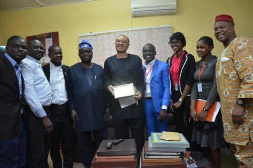 Prof Pat Utomi receives his award
