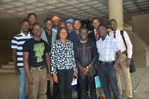 Radio Crew in a snapshot with Renown Activist, Dr Joe Okei-Odumakin