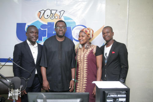 The Ambassadors Crew and Information Commissioner, Hon. Ayorinde