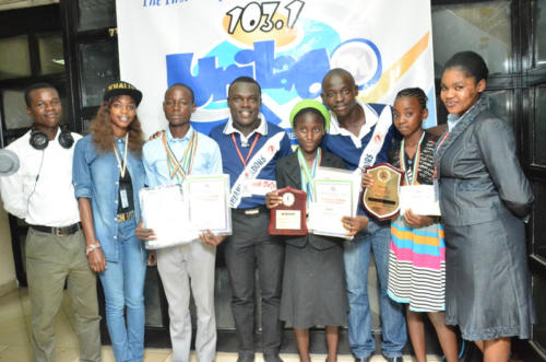 Young Scholars and Winners of National Contest on the Show