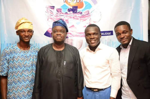 Youngest Distinguished Toastmaster in the World, Ibrahim Owolabi, Prof Babawale(DSA, Unilag), Radio Host PeeJay and Solomon of DNA